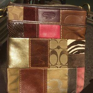 Coach cross body patchwork bag